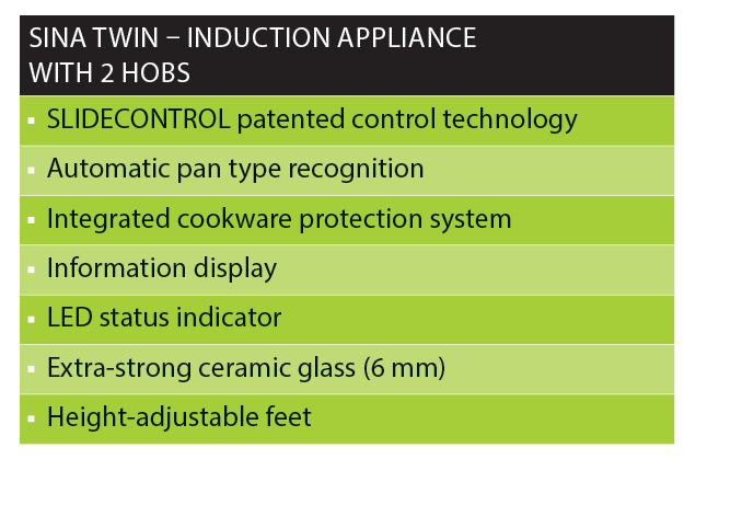SINA TWIN Induction appliance