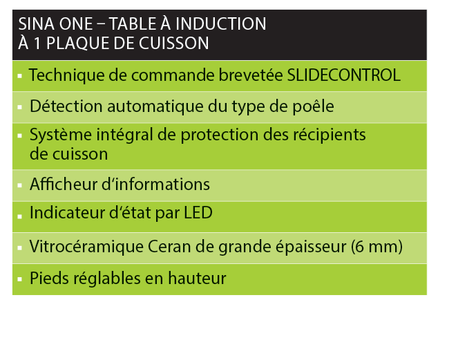 SINA ONE Table a Induction